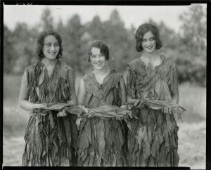 Unknown women wearing tobacco dresses, 1929 (Source: Library of VA Special Collections)
